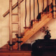 Contemporary willow twig stair balustrade